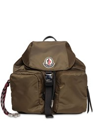 Moncler Small Dauphine Nylon Backpack Military Green