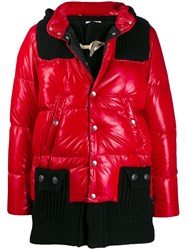 Bark Feather Down Parka Coat Red