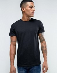Solid T Shirt In Black Black