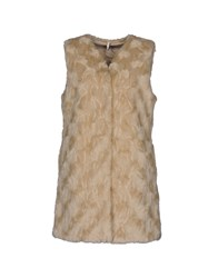 Geospirit Coats And Jackets Faux Furs Beige