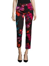 Trina Turk Aubree Floral Print Cropped Pants Multicolor