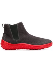 Car Shoe Contrast Sole Boots Grey