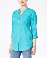 Jm Collection Embroidered Shirt Only At Macy's Urban Aqua