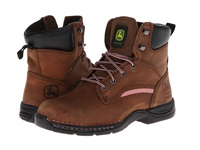 John Deere 6 Lightweight Lace Up Steel Toe Brown Women's Work Lace Up Boots
