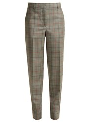 Calvin Klein 205W39nyc Wall Street Prince Of Wales Checked Wool Trousers Grey Multi