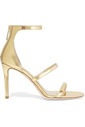 Tamara Mellon Horizon Mirrored Leather Sandals