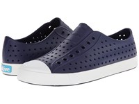 Native Jefferson Regatta Blue Shell White Shoes