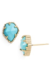 Kendra Scott 'Tessa' Stone Stud Earrings Gold Turquoise