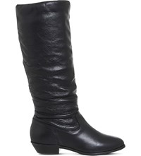 Office Kim Slouch Knee High Leather Boots Black Leather