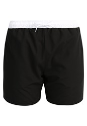 Pier One Contrast Waistband Piping Swimming Shorts Black