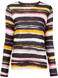 Proenza Schouler Striped Longsleeved T Shirt Yellow And Orange