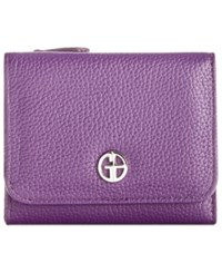Giani Bernini Softy Leather Mini Trifold Wallet Only At Macy's Bright Orchid