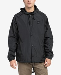 Rvca Men's Hooded Coaches Jacket Black