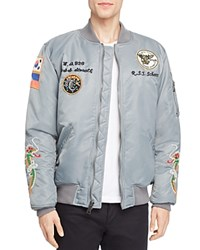 Schott West Pacific Souvenir Bomber Jacket Gray