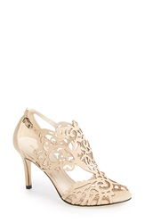 Klub Nico 'Marcela' Laser Cutout Sandal Women Nude Nubuck Leather