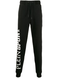 Plein Sport Drawstring Track Trousers Black