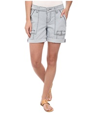 Jag Jeans Elsa Relaxed Fit Engineer Stripe Short In Bleached Indigo Engineer Stripe Bleached Indigo Women's Shorts Gray