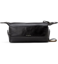 Aspinal Of London Men's Classic Leather Washbag Black