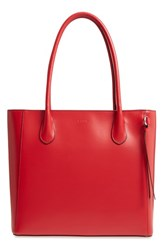 Lodis Cecily Rfid Leather Tote Red