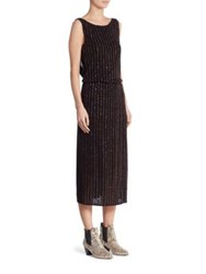 Marc Jacobs Glitter Pinstripe Dress Black