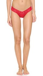 Hanky Panky Petite Signature Lace Low Rise Thong Red