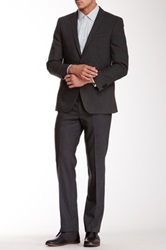 Ben Sherman Notch Lapel Wool Suit Gray