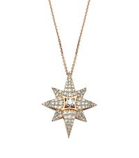 Bee Goddess Rose Gold And Diamond Venus Star Necklace White