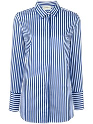 By Malene Birger Striped Slim Fit Shirt Blue