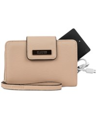 Kenneth Cole Reaction Never Let Go Tech Tab Wristlet With Charger Pale