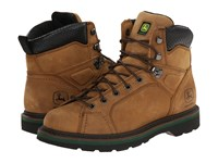 John Deere 6 Lace To Toe Boot Buck Men's Work Boots Taupe