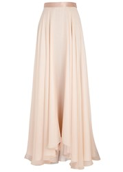 Lanvin Blush Draped Silk Chiffon Maxi Skirt