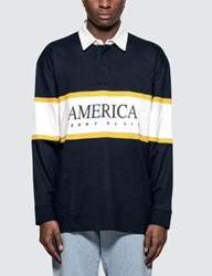Perry Ellis L S Rugby Shirt