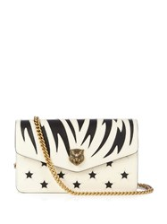 Gucci Broadway Bi Colour Leather Cross Body Bag Black White