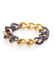 Pomellato Tango Aquamarine Tanzanite Blue Sapphire And 18K Rose Gold Bracelet