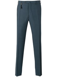 Incotex Slim Tailored Trousers Men Mohair Wool 56 Blue