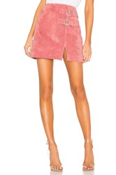 Blank Nyc Suede Buckle Skirt Coral