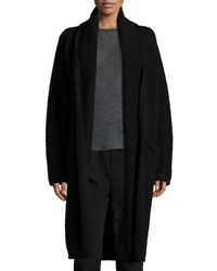 Vince Yak Wool Oversized Open Front Cardigan Black