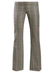 Alexander Mcqueen Herringbone Wool Trousers Grey Multi