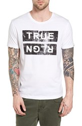 True Religion Men's Brand Jeans Distressed Graphic T Shirt