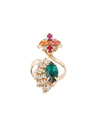 Anton Heunis Colourful Gemstone Open Ring Gold