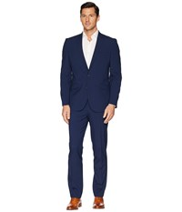 Kenneth Cole Reaction Slim Fit Performance Suit W Stretch Blue Box Check Dress Pants