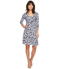 Ellen Tracy Elbow Sleeve Side Twist Dress Leopard Expression Women's Dress Animal Print