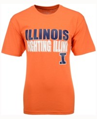 Colosseum Men's Illinois Fighting Illini Wordmark Stack T Shirt Orange