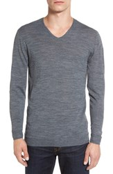 John Varvatos Men's Star Usa V Neck Sweater Grey Heather