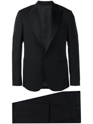 Versace Fitted Two Piece Suit Black