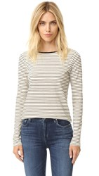 The Lady And The Sailor Relaxed Long Sleeve Tee Natural Stripe