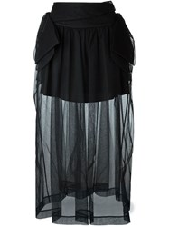 Simone Rocha Sheer Layer Skirt Black