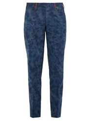 Missoni Tie Dyed Cotton Trousers Blue
