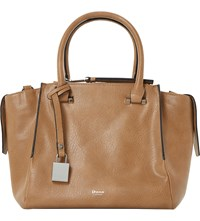 Dune Delfie Faux Leather Winged Handbag Tan Synthetic