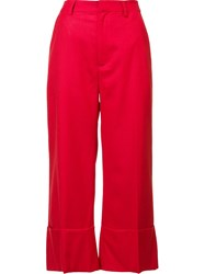 Sea Cropped Pants Red